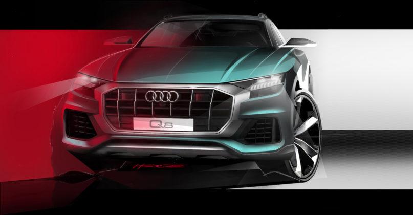 Audi Q8 disegno frontale