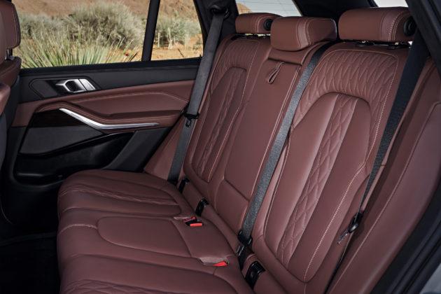 Nuova BMW X5 dettaglio sedili posteriori in pelle