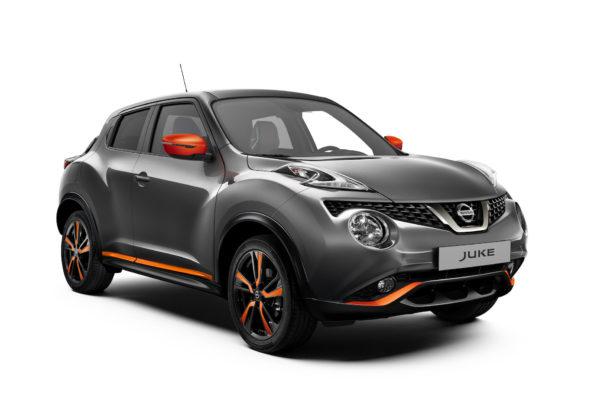 Nissan Juke 2018 grigia, 3/4 anteriore