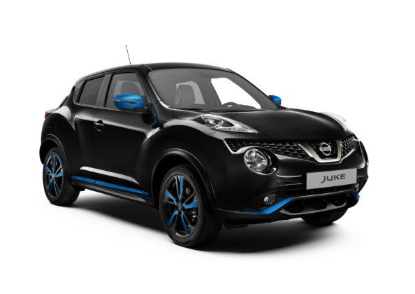 Nissan Juke 2018 black 3/4 anteriore