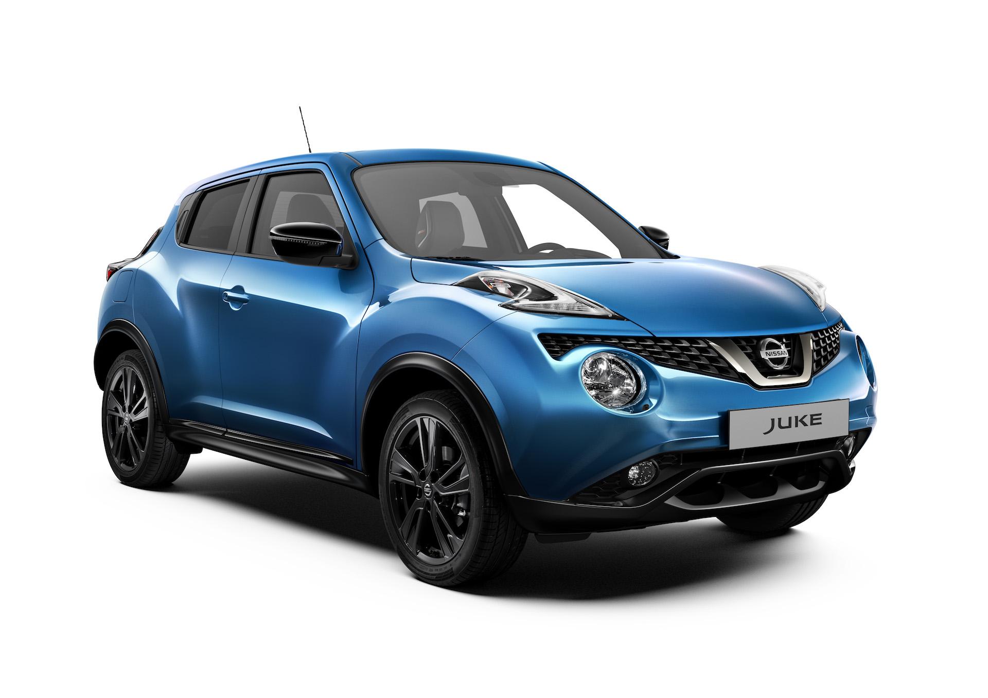 Nissan Juke 2018 blu 3/4 anteriore