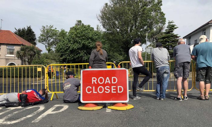 Tourist Trophy 2018 road closed