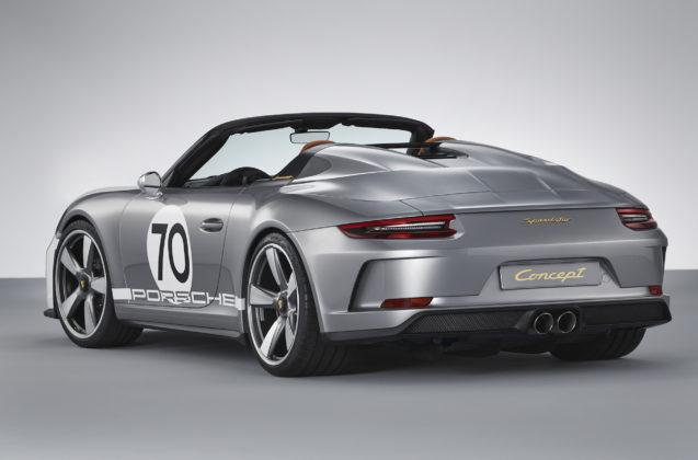 Porsche 911 Speedster Concept 3/4 posteriore