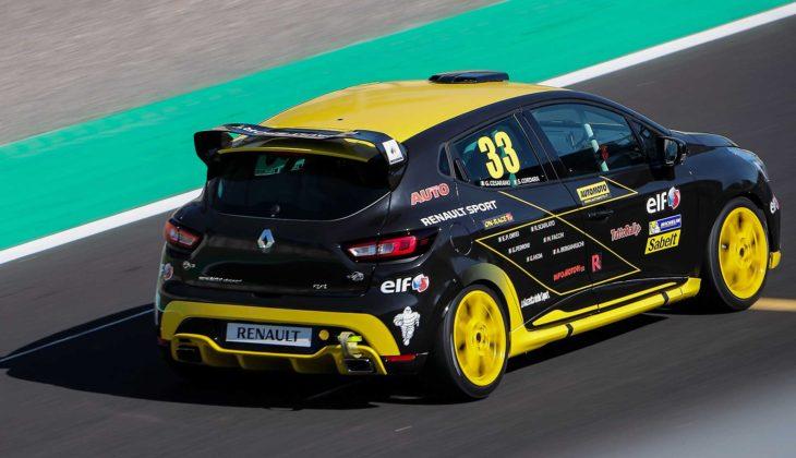Renault Clio Cup 2018 3/4 laterale posteriore destra in gara