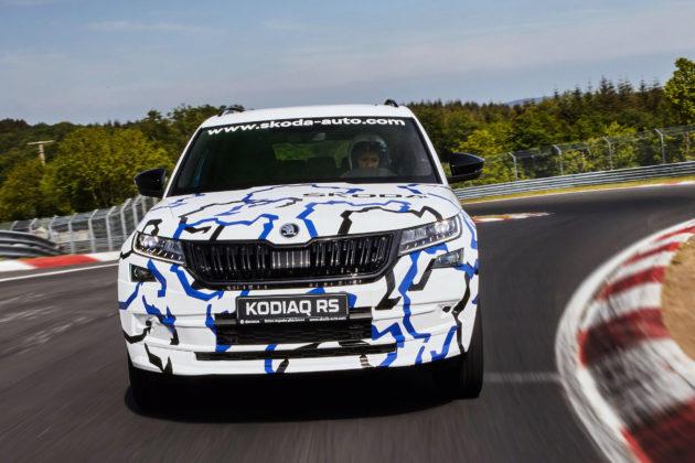 Skoda Kodiaq RS frontale Nurburgring