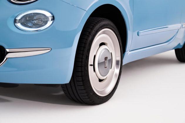 Fiat 500 Spiaggina '58 dettaglio cerchio in lega