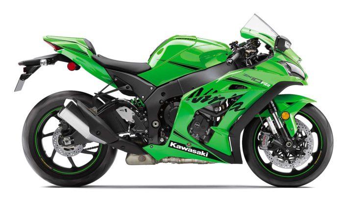 Kawasaki Ninja ZX 10RR 2019 laterale fondo bianco