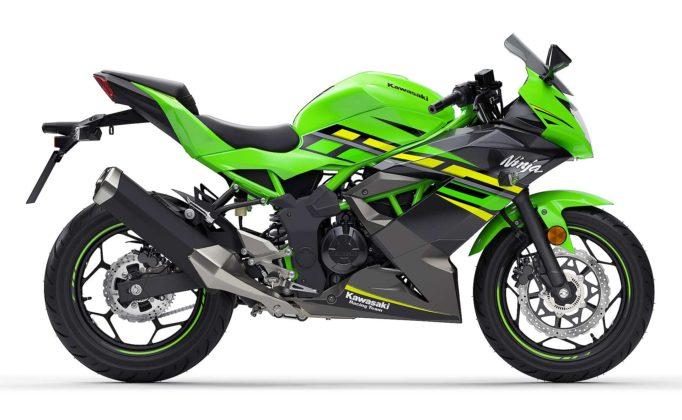 Kawasaki Ninja125 Verde laterale