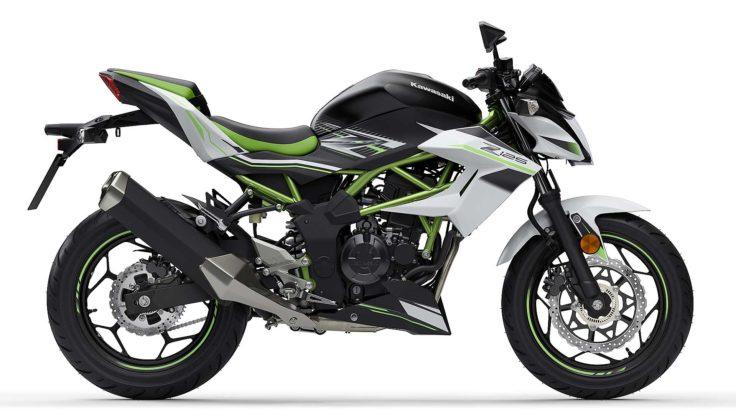Kawasaki Z 125 2019 Nero e verde vista laterale