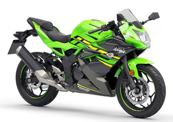 Kawasaki Ninja125 Verde 3/4 anteriore