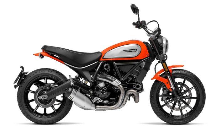 Ducati Scrambler icon 800 2019 arancione vista laterale