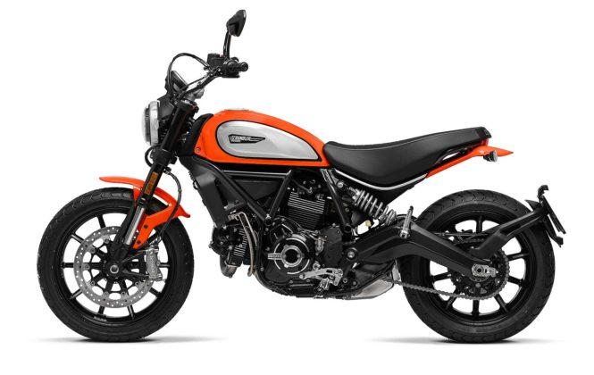 Ducati Scrambler icon 800 2019 arancione laterale