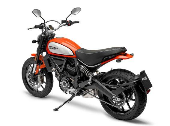 Ducati Scrambler icon 800 2019 arancio 3/4 posteriore