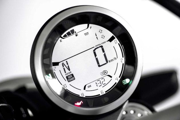 Ducati Scrambler icon 800 2019 particolare strumentazione