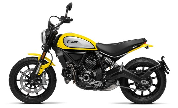 Ducati Scrambler icon 800 2019 gialla laterale