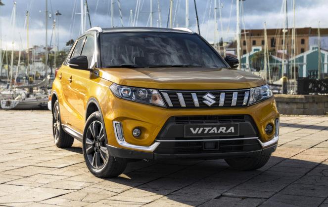 Suzuki Vitara 2018 gialle 3/4 anteriore