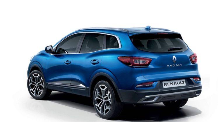 Renault Kadjar 2018, 3/4 posteriore blu