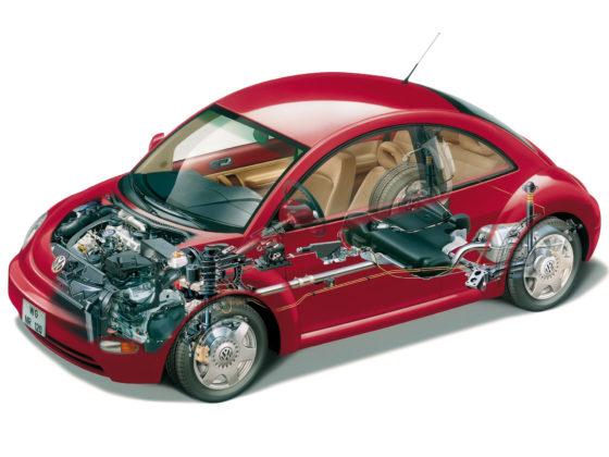 Volkswagen New Beetle, trasparenza meccanica