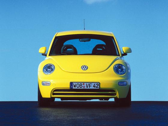 Volkswagen New Beetle, frontale giallo