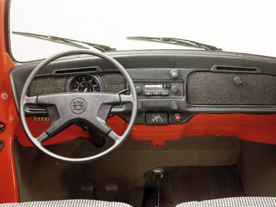Volkswagen Maggiolino 1202, plancia