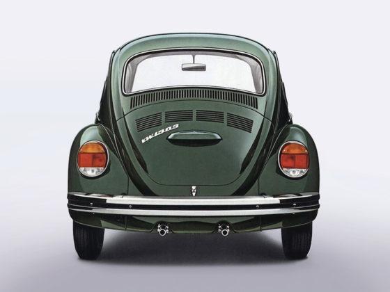 Volkswagen Maggiolino 1202, verde, coda