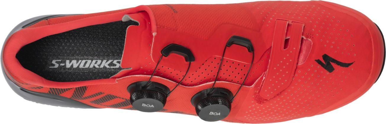 Specialized S-Works Recon rossa, vista superiore