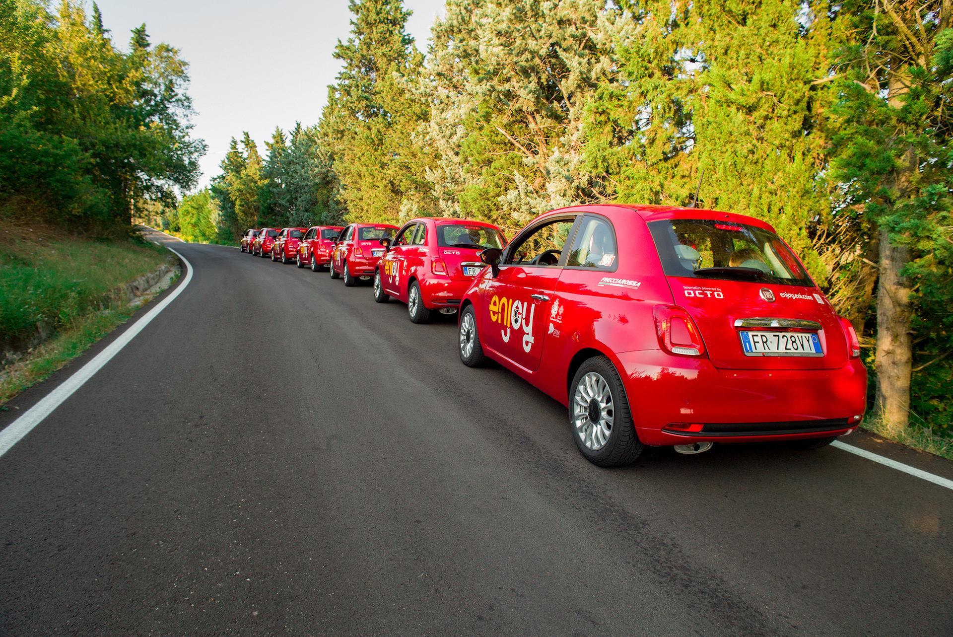 Flotta Enjoy il car sharing di Eni